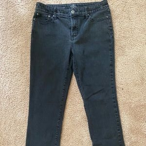 St. John's Bay Black Washed Straight Leg Jeans